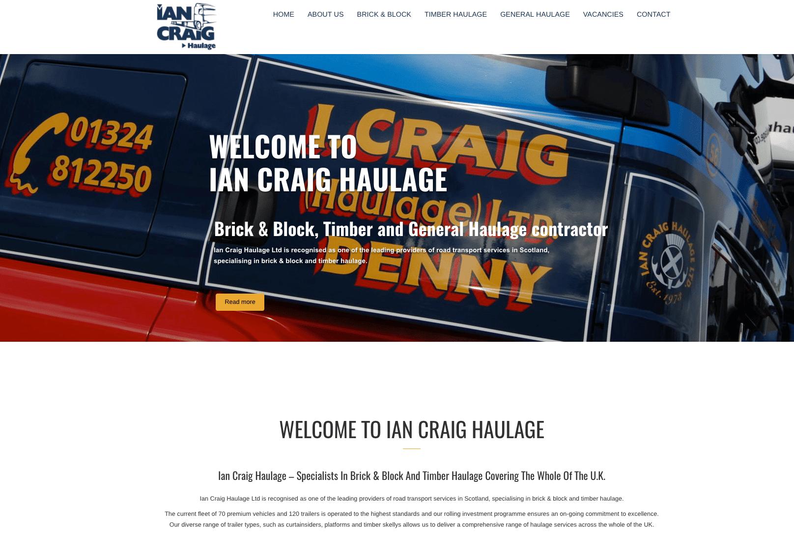Ian Craig Haulage - home